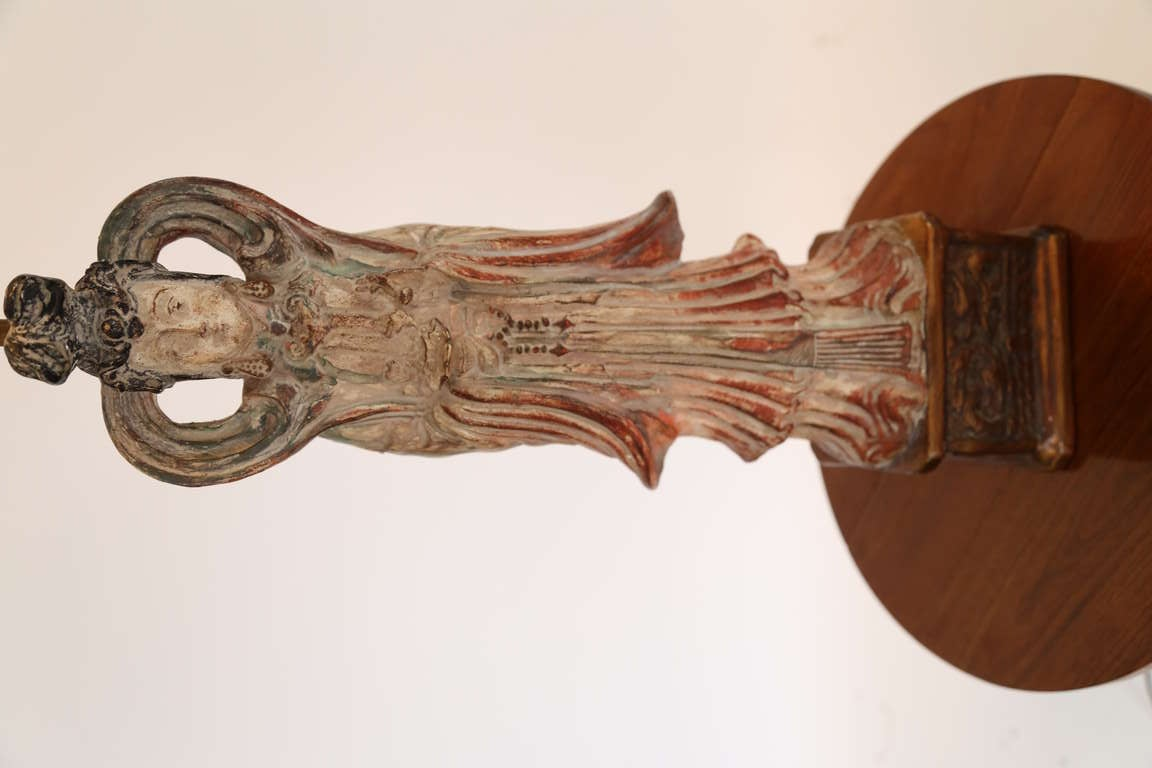 American James Mont Style Asian Figure Lamps, 1950s For Sale