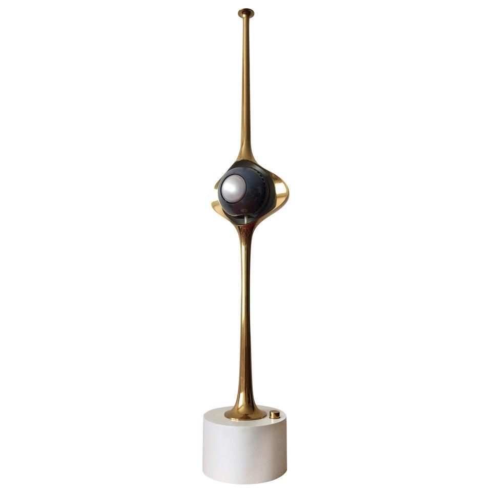 Angelo Lelli Cobra Lamp for Arredoluce, in Brass, 1964