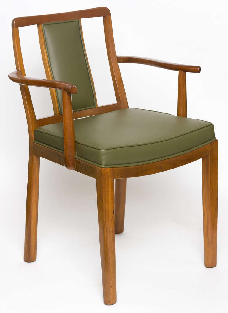 Mid-Century Modern Dining Chairs by Edward Wormley for Dunbar, Set of Six, 1950s For Sale