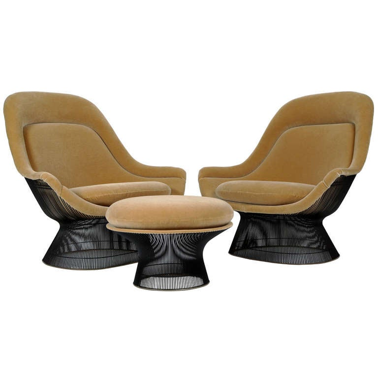 Warren Platner Lounge Chairs And Ottoman At 1stdibs