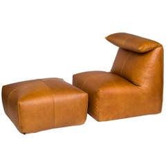 Mario Bellini Le Bambole Chair and Ottoman