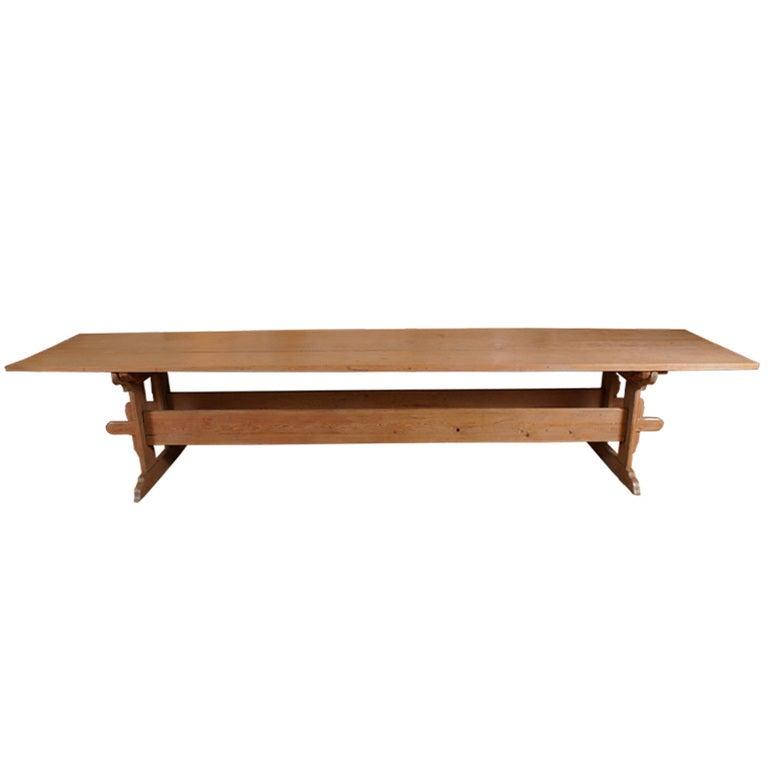 18th Century Swedish Trestle Table at 1stdibs : X1l from www.1stdibs.com size 768 x 767 jpeg 18kB