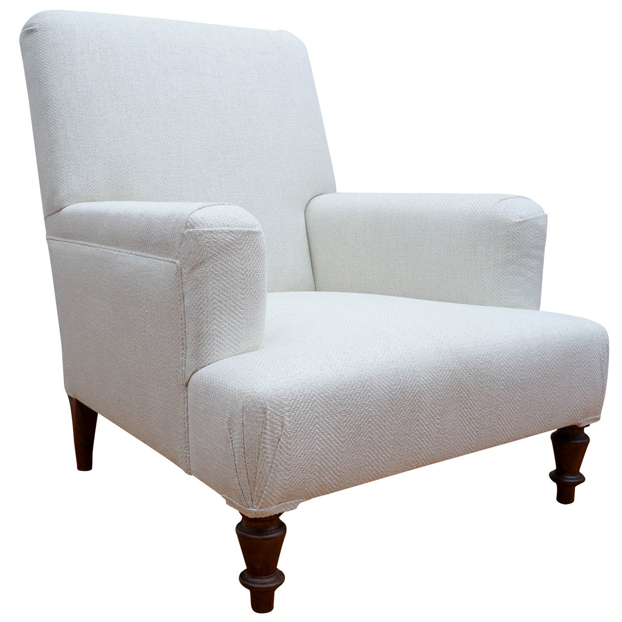 """Custom """"Provence"""" Upholstered Club Chair For Sale At 1stdibs"""