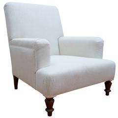 "Custom ""Provence"" Upholstered Club Chair"