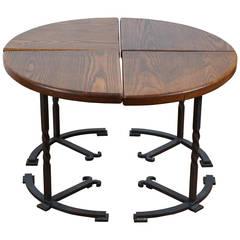 Four-Part Circular Table