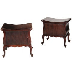 A Near Pair of Unusual George III Mahogany Commode Stools