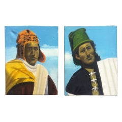 Peruvian Modernist Paintings, Pair