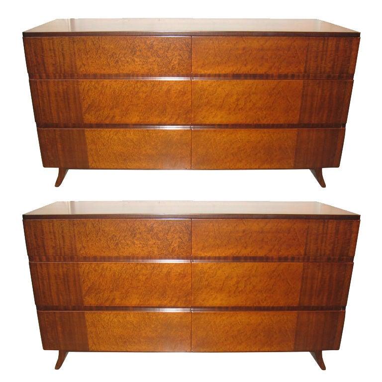 pair of eliel saarinen 6 drawer commode at 1stdibs