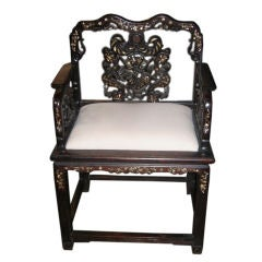 Mother of Pearl Inlaid Chair