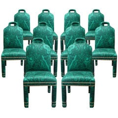 "Set of 10 ""Hutton"" Malachite Chairs"