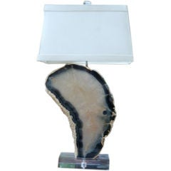 Rock Candy Agate Slice Lamp