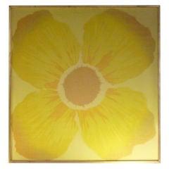 Mod Yellow Flower Silk Screen