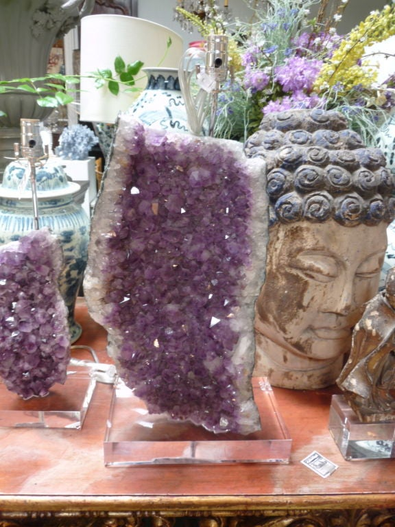 Contemporary Amethyst Mineral Lamps