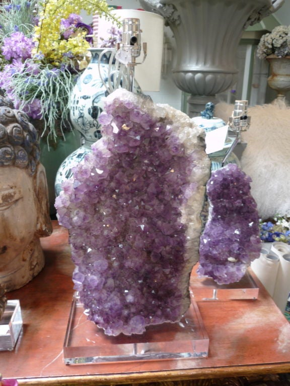 Amethyst Mineral Lamps 1