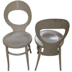 Pair of 1950's French Bentwood Chairs