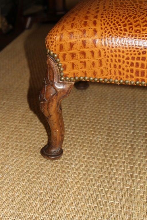 Embossed Leather Stool 2