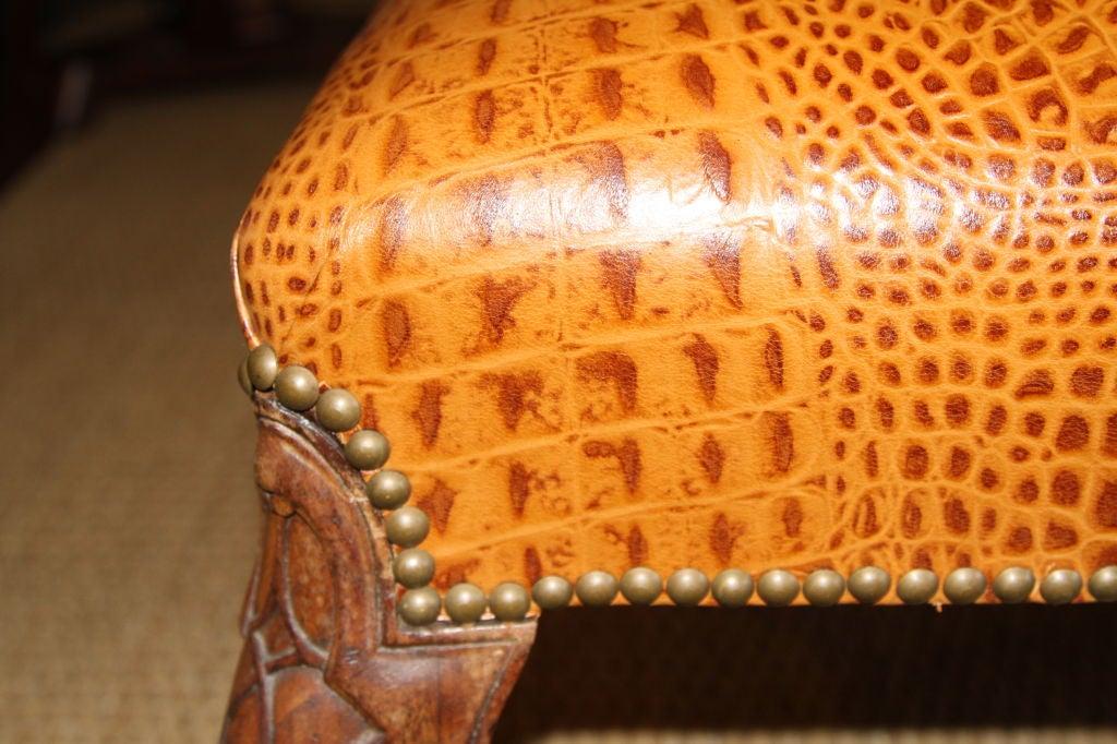 Embossed Leather Stool 4