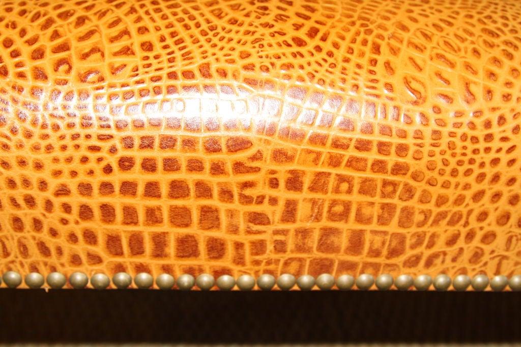Embossed Leather Stool 5