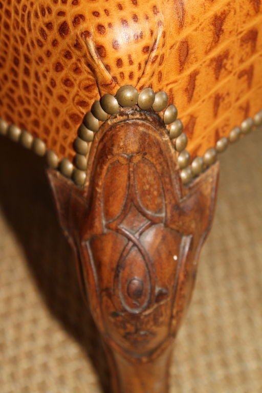 Embossed Leather Stool 7