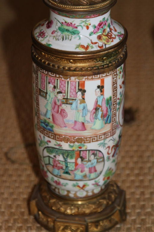 18th Century Chinese Famille Rose Lamps 2