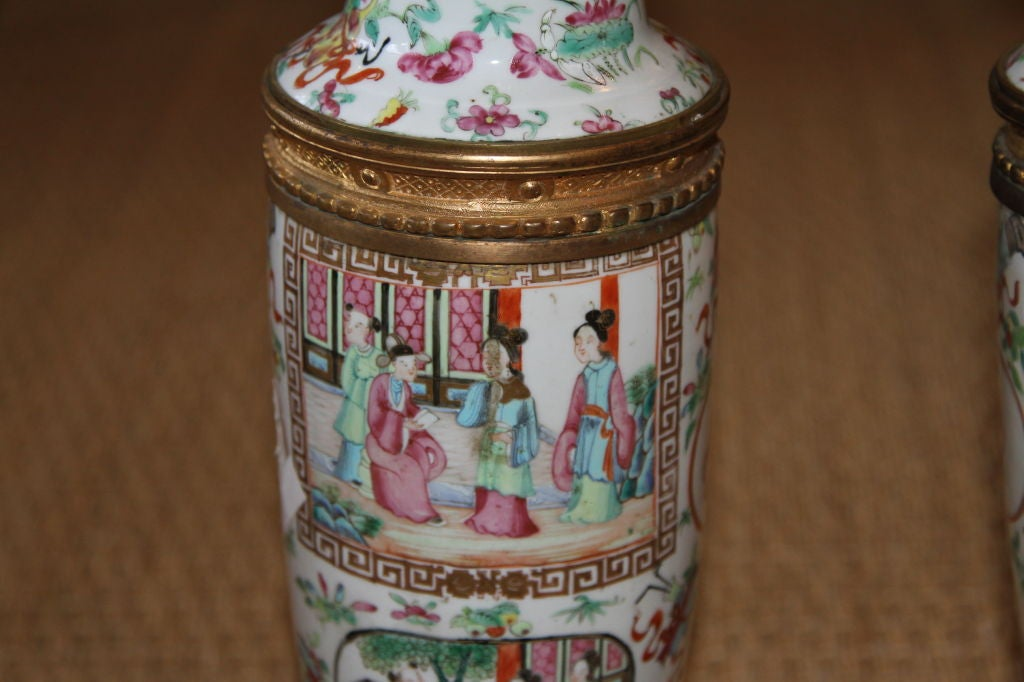 18th Century Chinese Famille Rose Lamps 5