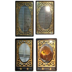 Set of Four Gilded Chinese Mirrors