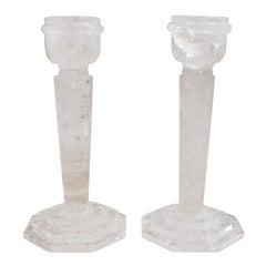 Rock Crystal Candlesticks