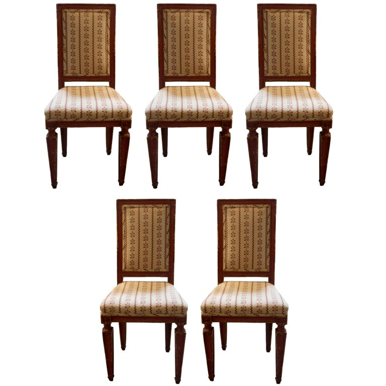 set of five 19th c italian chairs at 1stdibs