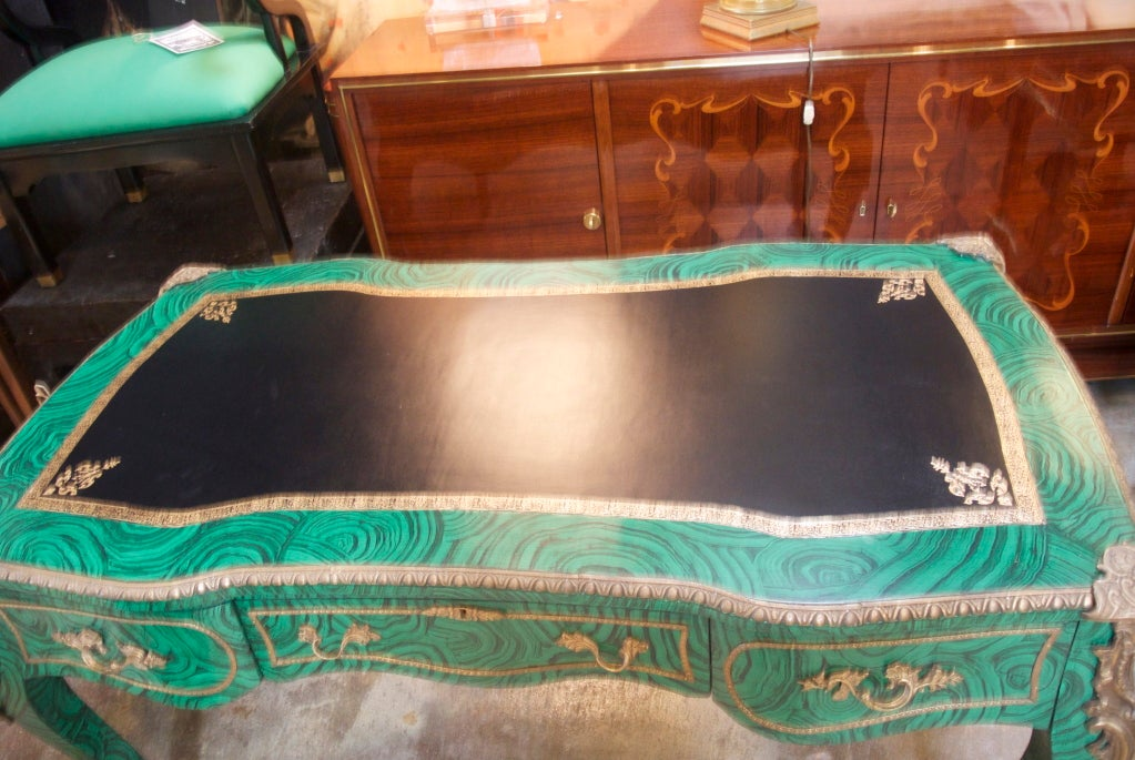 Faux Malachite Desk For Sale 4