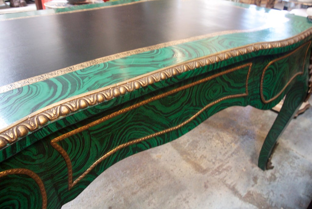 Faux Malachite Desk For Sale 2