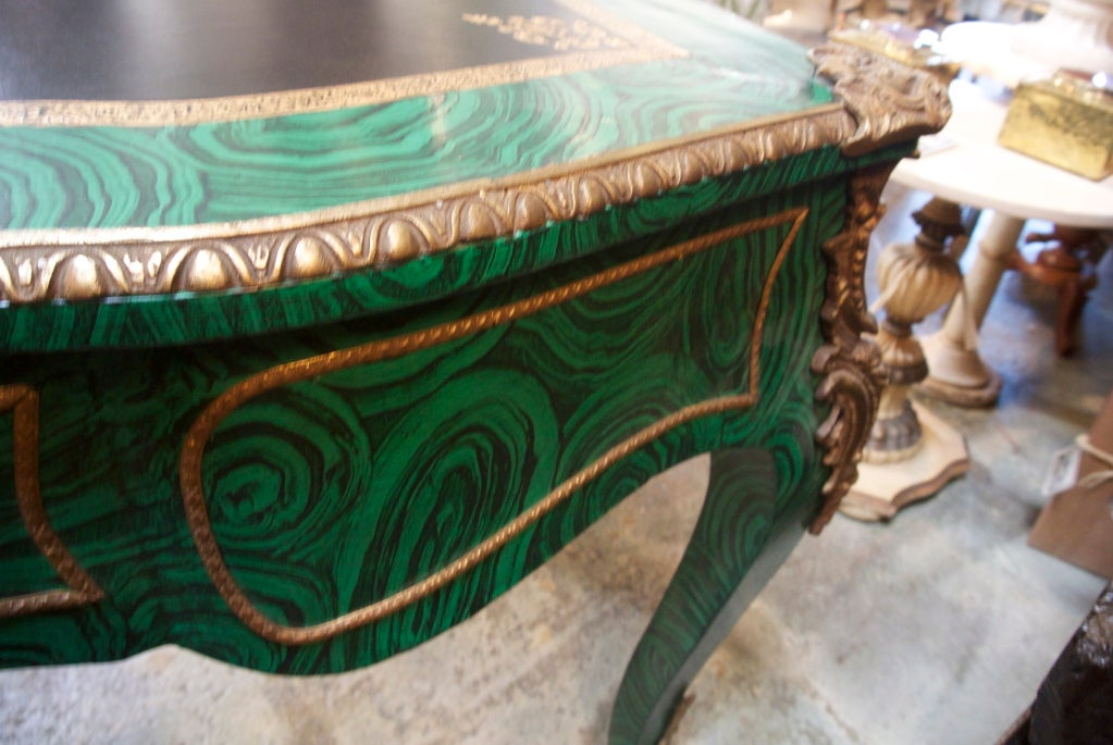 Faux Malachite Desk For Sale 3