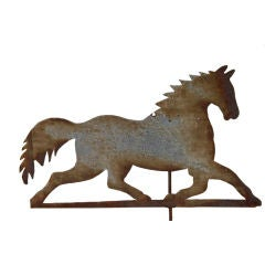 Sheet Iron Running Horse Weathervane
