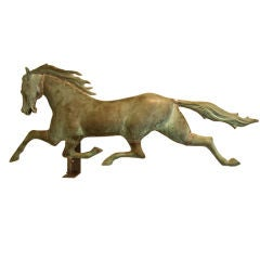 Large 19th Century Running Horse Weathervane, Colnel Patchen