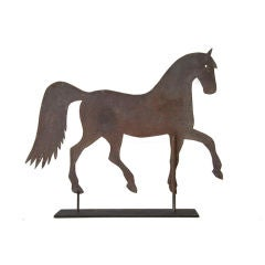 19th Century Sheet Iron Prancing Horse