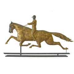 Classic Dexter and Jockey Weathervane