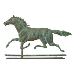 Large Mountain Boy Running Horse Weathervane