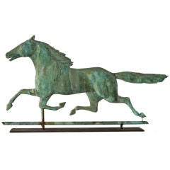 Dynamic Running Horse Weathervane, Mountain Boy