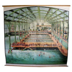 Original Sutro Baths 19th Century Lithograph