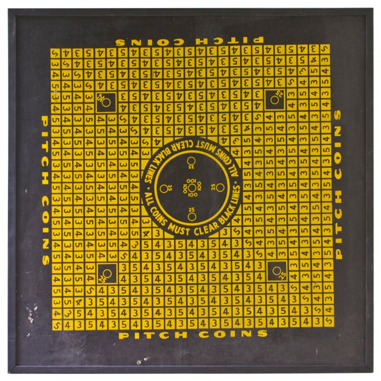 penny toss game board