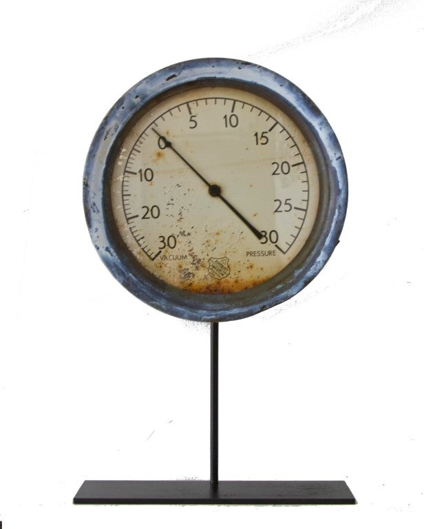 Collection of Five Early Industrial Pressure Gauges image 2