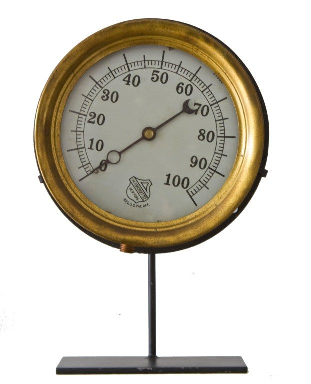 Collection of Five Early Industrial Pressure Gauges image 4