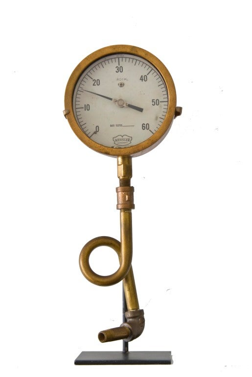 Collection of Five Early Industrial Pressure Gauges image 5