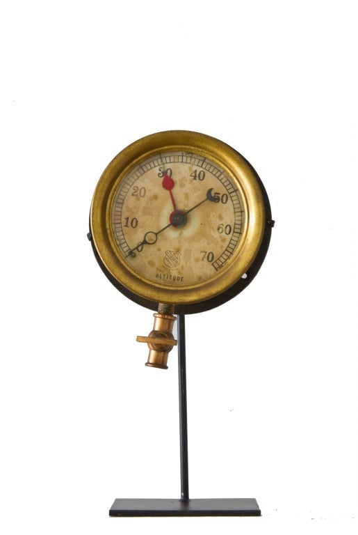 Collection of Five Early Industrial Pressure Gauges image 6