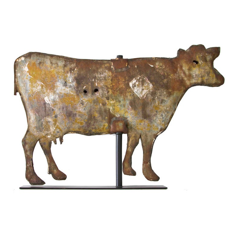 Individual Effort Full Bodied Sheet Metal Cow Weathervane