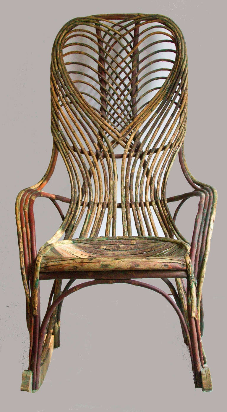 Early 20th Century Twig Rocking Chair at 1stdibs