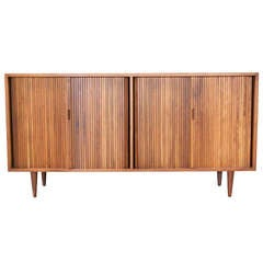 Tambour Cabinet by Milo Baughman for Glenn of California