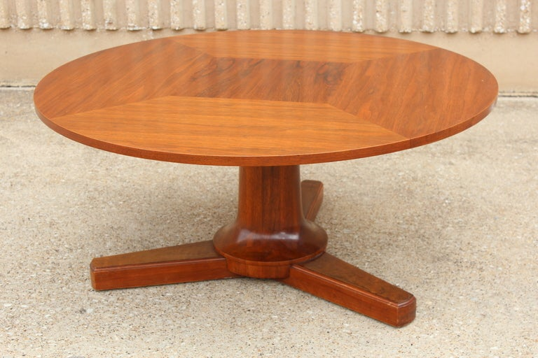 Coffee Table Converts Game Table Rosewood And Walnut Convertible Game Coffee Table At 1stdibs