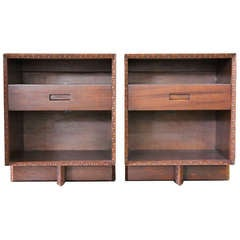 Pair of Bedside Tables by Frank Lloyd Wright for Henredon