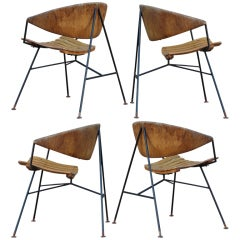 Set of four lounge chairs by Arthur Umanoff