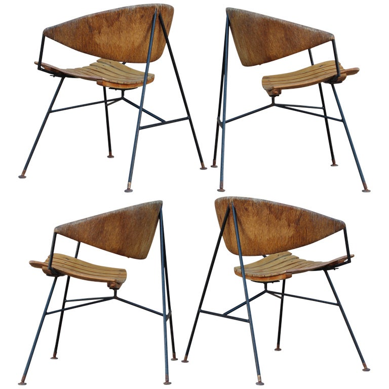 Set Of Four Lounge Chairs By Arthur Umanoff At 1stdibs